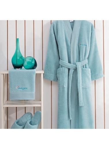 Marie Claire Tek Kişilik 3 Parça Bornoz Set-Jaına Beden Aqua 100% Mıcro Cotton Mavi